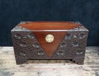 Early 20th Century Oriental Carved Teak and Camphor Wood Chest (2 of 11)