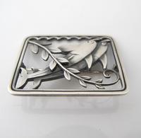 Beautiful Georg Jensen Vintage Silver Arno Malinowski Dolphin Design Brooch c.1930 (2 of 3)