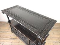 Early 20th Century Stained Oak Monk's Bench (6 of 14)