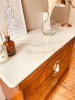 Flamed Mahogany Chest of Drawers / Sideboard / Commode with Marble (8 of 8)