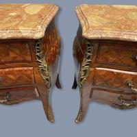 Pair of Italian Parquetry Bedside Commodes (6 of 8)