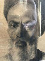 Charcoal Painting Of Man In Turban, Signed And Framed (7 of 9)