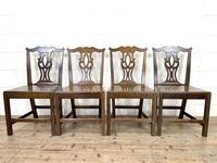 Set of Four Country Oak Dining Chairs (3 of 10)