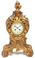 Impressive Candelabra Clock Set French Rococo Ormolu Bronze Mantel Clock. (6 of 10)