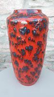 Vintage 1960s Fat Lava Floor Vase Europ Linie Scheurich Keramik WGP (2 of 3)