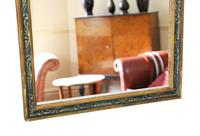 Gilt & Decorated Overmantle or Wall Mirror c.1920 (3 of 4)