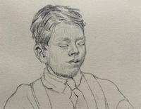 William Robert Hay - Original - Seated Student Portrait Pencil Drawing (10 of 12)