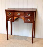 Mid Century Mahogany Bow Front Side Table (3 of 10)