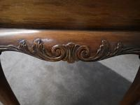 Mahogany Chippendale Style Table with Glass Gallery (7 of 10)