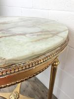 Gold Gilt Table with Circular Onyx Top (4 of 11)