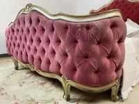 Antique French Demi Corbeille Chesterfield Style Double Bed Frame (5 of 13)