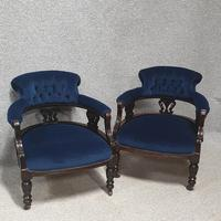 Pair of Victorian Mahogany Tub Chairs (2 of 7)