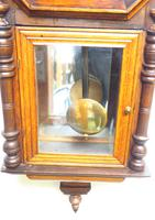 Impressive Victorian American Drop Dial Wall Clock 8 Day Movement Inlaid Case (5 of 14)