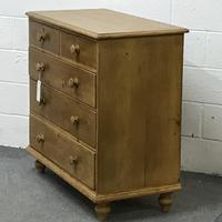 Victorian 2 over 3 Pine Chest of Drawers (3 of 4)