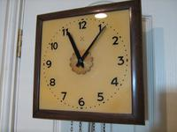 Rare Postman's Alarm Wall Clock by HAC. (2 of 4)