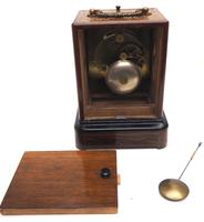 Fine French Officers 8-day Mantel Clock – Rosewood Case With Satinwood Inlay (10 of 13)