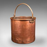 Pair of Antique Fireside Bins, English, Copper, Coal, Fire Bucket, Victorian (6 of 12)