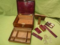 Unisex Rosewood Fitted Jewellery – Dressing Box. c1835 (2 of 12)