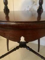 Antique Victorian Mahogany Lamp Table (2 of 6)