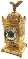 Good French Ormolu Cubed Classic 8 Day Striking Mantle Clock (3 of 11)
