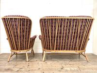 Vintage Ercol Evergreen Two Seater Sofa & Armchair (9 of 10)