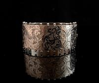 Victorian silver cuff bangle, Aesthetic (6 of 15)