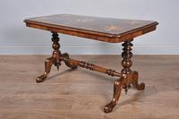 Antique victorian walnut coffee table (2 of 3)