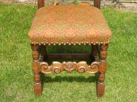 8 Waring & Gillow Chairs Oak William Morris Fabric (4 of 10)