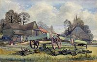 The Green Cart by R.Coleman 1971 - Fine Farmstead Landscape Watercolour Painting (2 of 11)