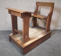 Antique Oak & Pine School Desk