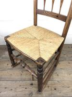 Antique Ash & Elm Rocking Chair with Rush Seat (12 of 12)