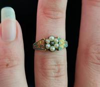 Antique Regency Mourning Ring, 18ct Gold, Blue Enamel (10 of 10)