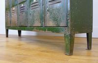 Vintage Industrial 15 Door Metal Workshop Cabinet Locker c.1930 (10 of 14)