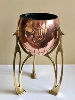 Jugendstil WMF Copper & Brass Jardiniere Planter, Art Nouveau (9 of 11)