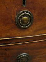 Antique 19th century Mahogany Bow Chest of Drawers, Country House Chest (3 of 18)