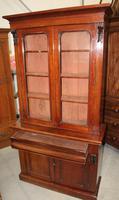 1910's Mahogany Chiffonier Bookcase with Glazed Top