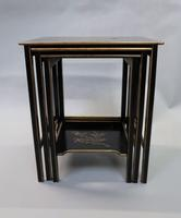Edwardian Japanned Chinoiserie Nest of Tables (10 of 12)