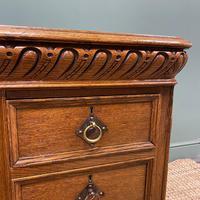 Victorian Oak Antique Pedestal Desk Circa 1890 (4 of 9)