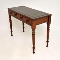 Antique  Victorian  Mahogany Leather Top Writing Table / Desk (3 of 9)