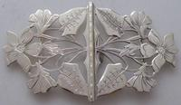 Rare 1902 Art Nouveau Hallmarked Solid Silver Nurses Belt Buckle Sydney & Co (2 of 10)