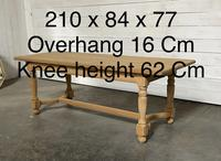 Nice Bleached Oak Farmhouse Dining Table (12 of 19)