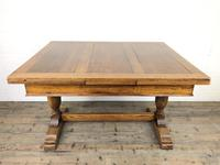 Early 20th Century Oak Draw Leaf Table (2 of 17)