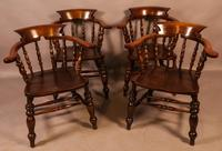Set of 4 Victorian Captains Chairs (7 of 7)
