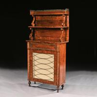 Fine Regency Brass Inlaid Rosewood Chiffonier Of Narrow Proportions (2 of 7)