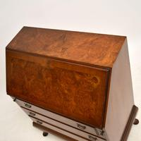 Antique Burr  Walnut Writing Bureau (9 of 9)