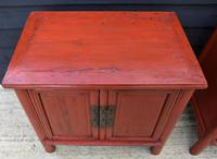 Excellent Pair of Chinese Red Lacquered Cabinets / Cupboards c.1900 (6 of 14)