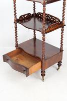 Antique Victorian 3 Tier Rosewood Whatnot (12 of 13)