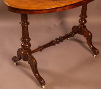 Victorian Burr Walnut Window Table (6 of 6)