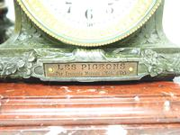 Wonderful French Figural Mantel Clock Lady Reclining 8 Day Mantle Clock with side Urns (6 of 12)