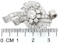 4.39ct Diamond & Platinum Earrings - Art Deco - Vintage c.1940 (7 of 9)